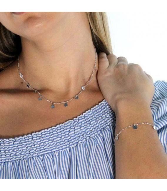 Collar Mini Moons en Plata
