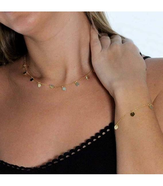 Collar Mini Moons en Plata Dorado