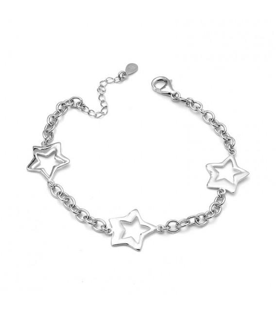 Pulsera Tres Estrellas en Plata