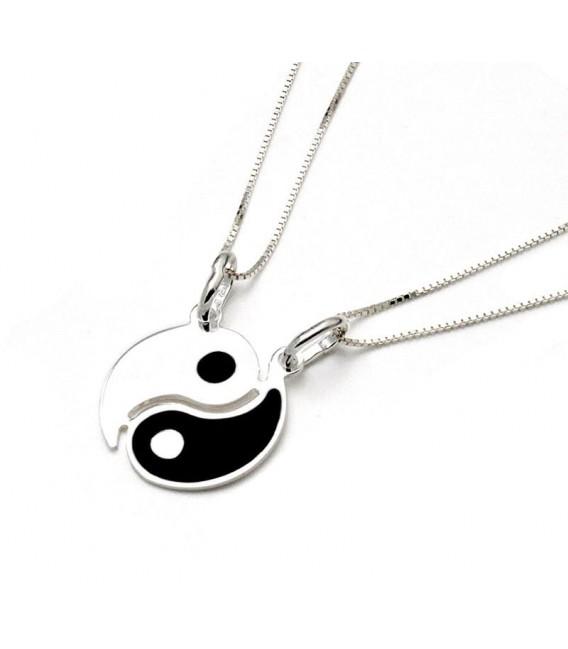 Dos Colgante Yin Yang en Plata