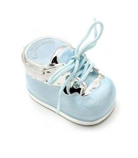 Cajita zapato para guardar los dientes de leche Azul