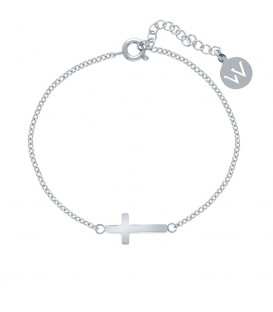 Pulsera Acero Inoxidable Cruz Horizontal