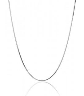 Cadena Cola de Topo Plata, Grosor 1,2 mm
