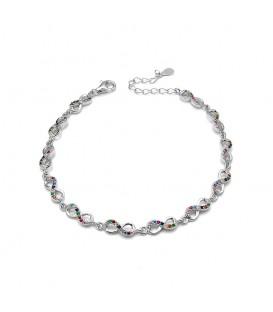 Pulsera Infinito con Cristales de colores en Plata