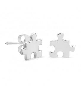 Pendientes Piezza de Puzzle en Plata