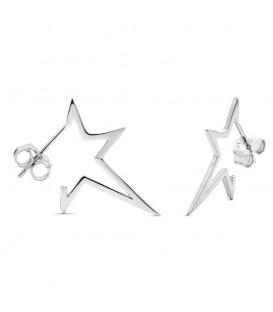 Pendientes Estrella de Pinchos en Plata