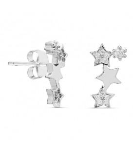 Trepadores Estrellas con Circonitas en Plata