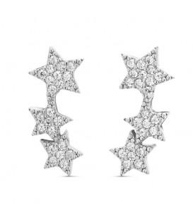 Trepadores Tres Estrellas con Circonitas en Plata