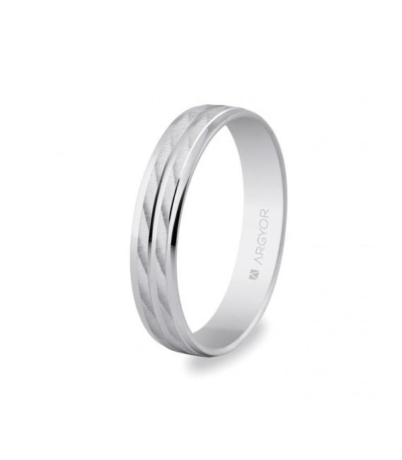 Alianza de plata Argyor, 4mm