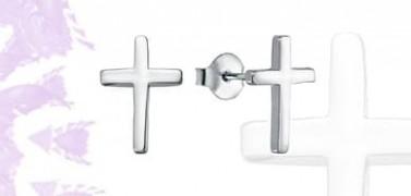 Pendientes Plata cruz