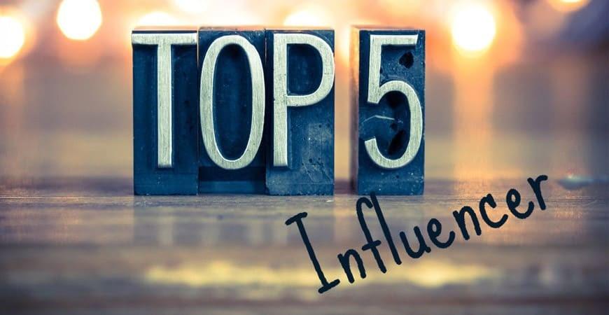 Top 5 de los influencers españoles con más repercusión.