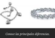 ¿Existen diferencias entre las pulseras de plata y de oro blanco?